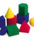 Geometrijska telesa iz trde gobe (9 kosov v 4 barvah)